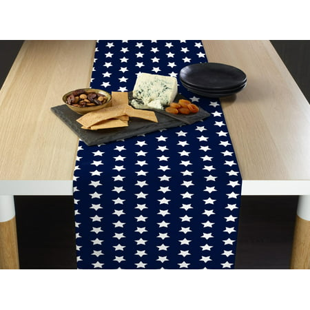 Fabric Textile Products Old Glory Blue Stars Table Runner 12