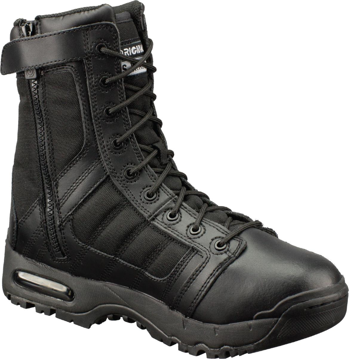 Original SWAT 1232 Black Tactical Boot with Side Zipper and Air Sole