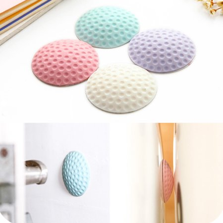 1X Thicken Rubber Wall Guard Self-Adhesive Door Handle Bumper Stopper Protector Color:Round White - image 2 of 8