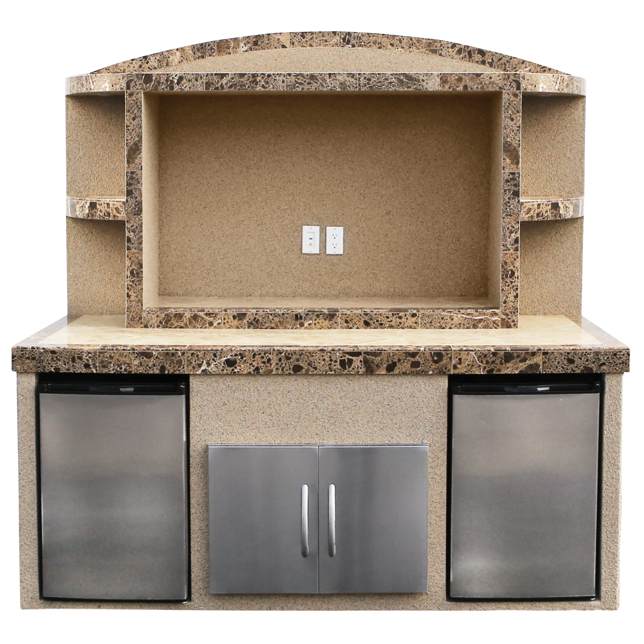 Paradise Outdoor Entertainment Center With Refrigerators