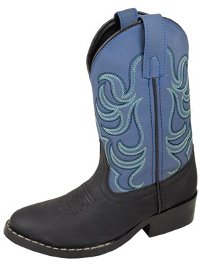 Smoky Mountain Children Boys Black/Blue Monterey Western Cowboy Boots