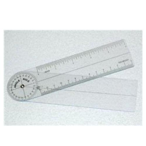 Complete Medical 10044B Plastic Angle Rule Goniometer 7 360 Degrees