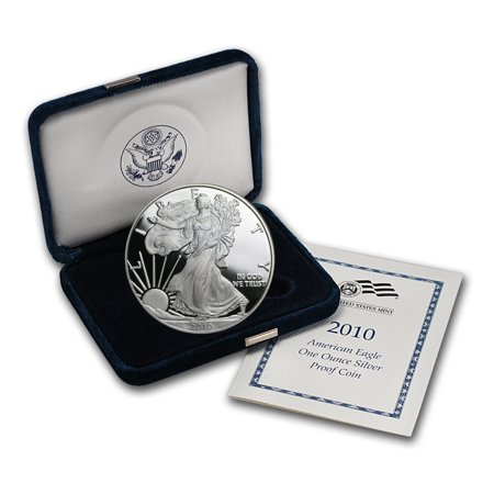 2010-W 1 oz Proof American Silver Eagle (w/Box &