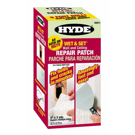 Tools 09911 5-Inch by 9-Foot Wet and Set Contractor's Roll Wall and Ceiling Repair Patch, Repair any drywall, plaster, stucco or painted wood.., By