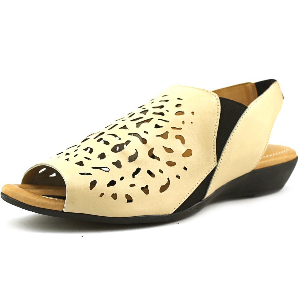 J. Renee Crispin Open-Toe Leather Slingback Sandal by J. Renee