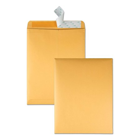 10 x 13 Catalog Envelopes with Self Seal Closure, 28 lb Brown Kraft, Great Option for Mailing, Storage and Organizing, 100 per Box (44762),.., By Quality Park,USA