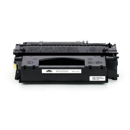 Compatible HP 53X Q7553X Black Toner Cartridge High Yield for LaserJet M2727MFP LaserJet M2727nf /M2727nfs MFP/P2015 /P2015D/P2015DN/ P2015X - Moustache® - 1/Pack - image 2 de 5