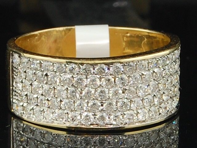 10K Ladies Yellow Gold Diamond Engagement Ring Wedding Band Bridal Set 1.03 ct by Jewelry For Less