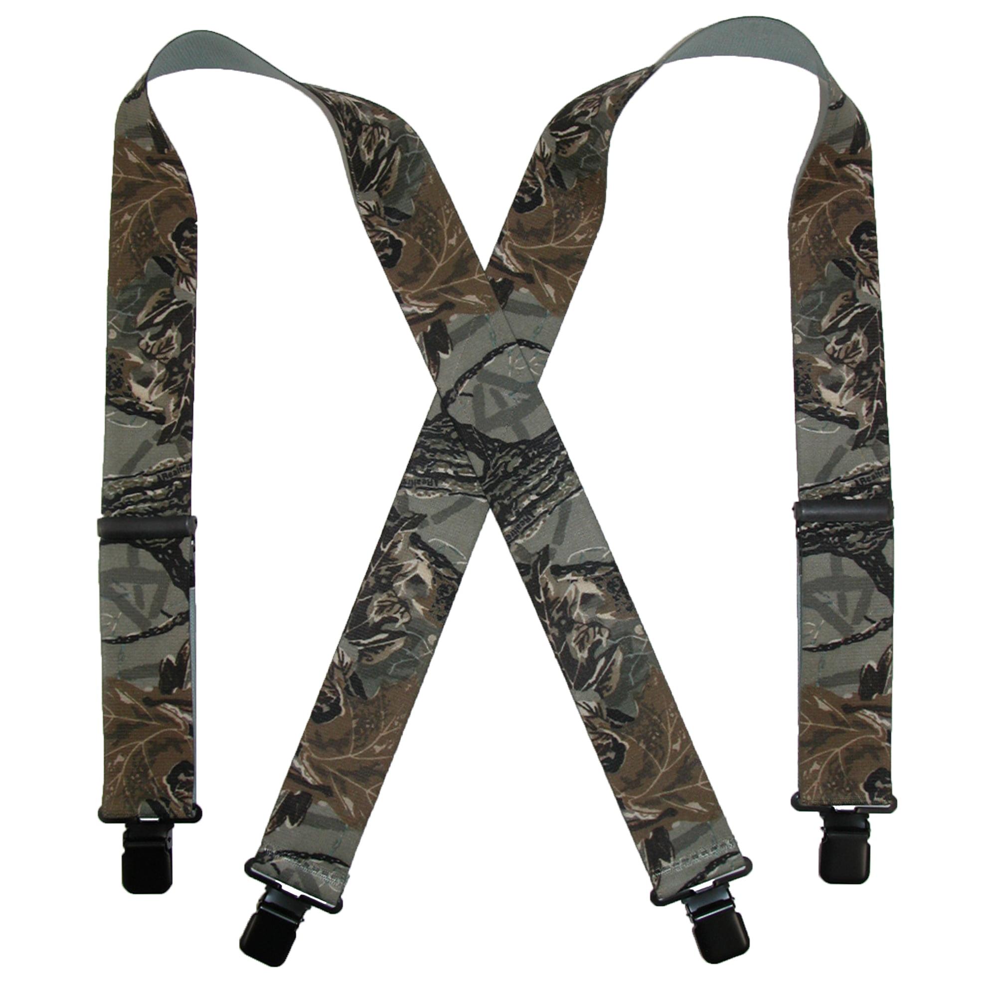 CTM Men's Elastic Clip-End 2 Inch Realtree Camo Suspenders by CTM