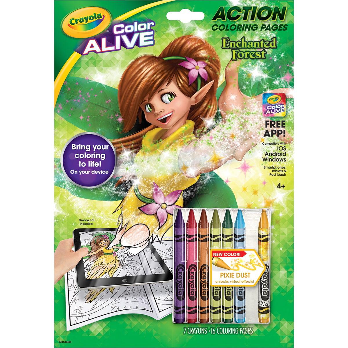 crayola color alive enchanted forest walmart com