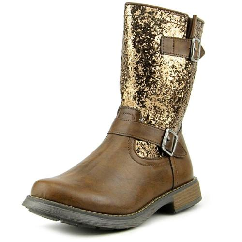 Balleto by Jumping Jacks Glitter Youth US 11 Brown Mid Calf Boot EU 29