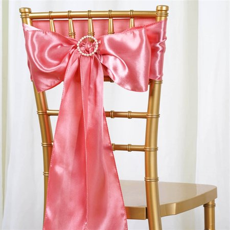 BalsaCircle 5 New Satin Chair Sashes Bows Ties - Wedding Party Ceremony Reception Event Decorations Unique Supplies for $<!---->