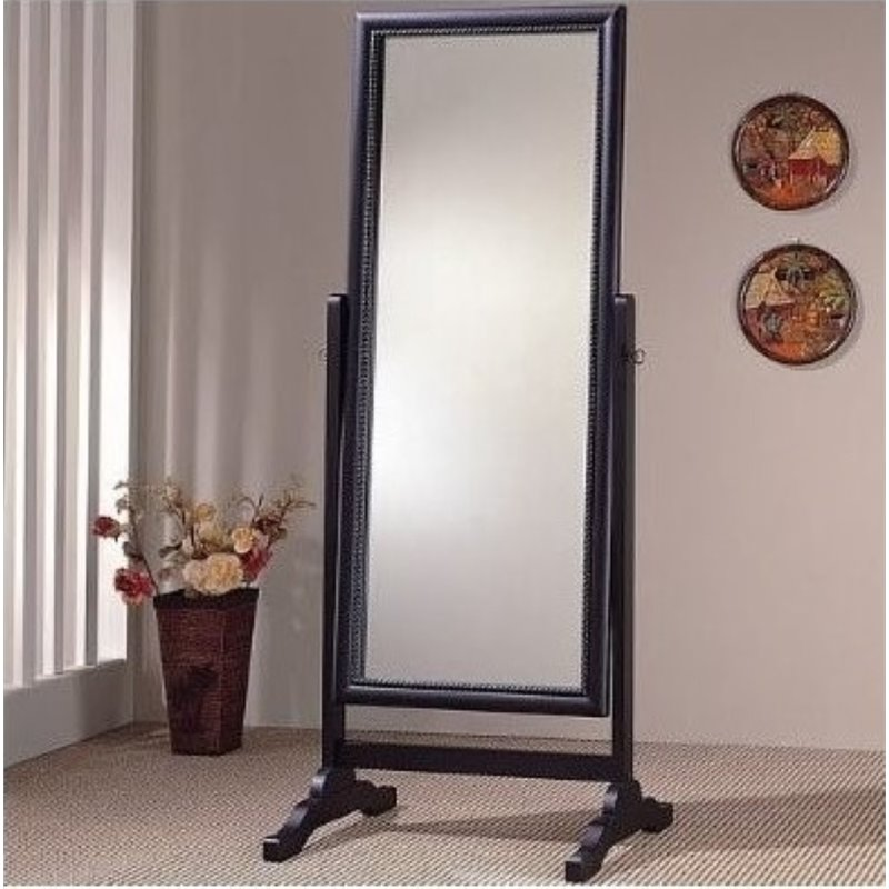Bowery Hill Grand Cheval Mirror in Black by Bowery Hill