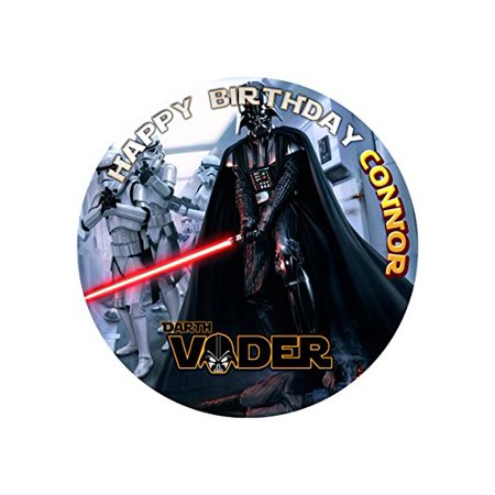 Darth Vader Star Wars Edible Cake Image Personalized Topper Icing Sugar Paper 8