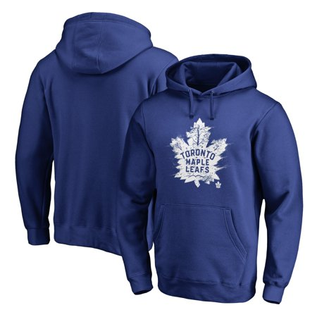 Toronto Maple Leafs Fanatics Branded Splatter Logo Pullover Hoodie - Royal Toronto Maple Leafs Pullover