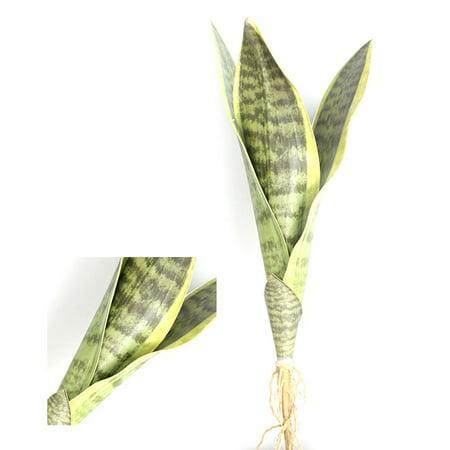Huangzhiping 1pc Artificial Tiger Piran Leaves Branch Bonsai Decoration Fake PVC Plants