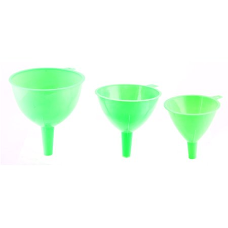 - Plastic Kitchen Transfer Oil Water Vinegar Liquid Filter Funnel Green 3 in 1