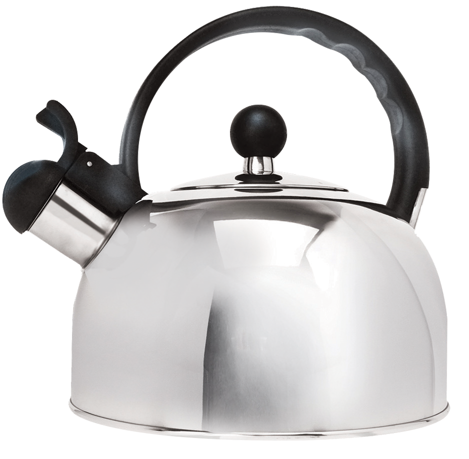 Primula TODAY Simon Whistling Kettle 2 Qt, Polished Stainless Steel