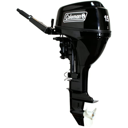 Coleman Powersports 15 hp Manual Start Outboard Motor - Short -  F15BMS