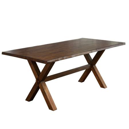 TMS Mandeville Live Edge Dining Table, (Walnut Tilt Top Table)