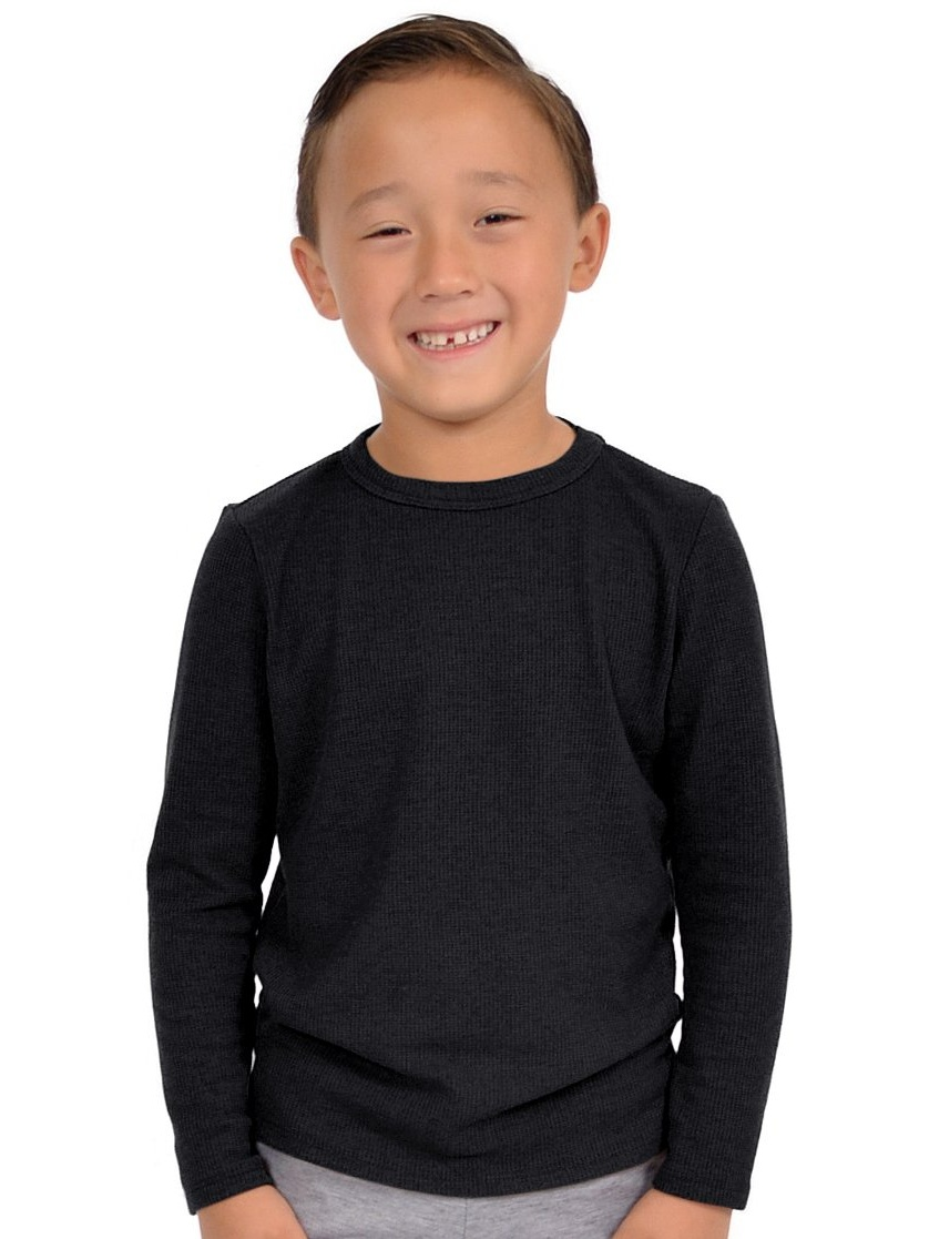 Boy's Thermal Shirt - Small 6 / Black