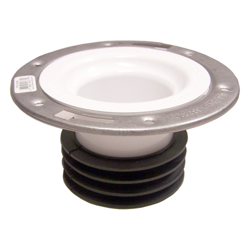 GenovaProducts Universal Closet Flange with Stainless Steel Ring