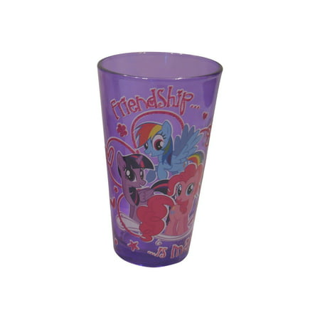Silver Buffalo MLP66031PG Hasbro My Little Pony Friendship is Magic Boxed Pub Glitter Glass, 16 oz, - My Little Pony Hasbro