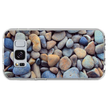 Gray Pebbles Found Along Oceanside At Beach Samsung Galaxy S8 Phone Case
