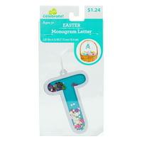 Way To Celebrate! Easter Fun-Fetti Monogram - Letter T