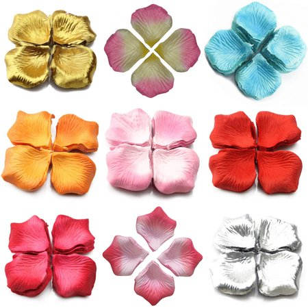 Girl12Queen 1000 Pcs Wedding Scatter Confetti Table Party Silk Fake Rose Flower Petals