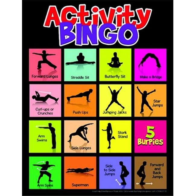 Learning Zonexpress Physical Activity Bingo Game - All Ages