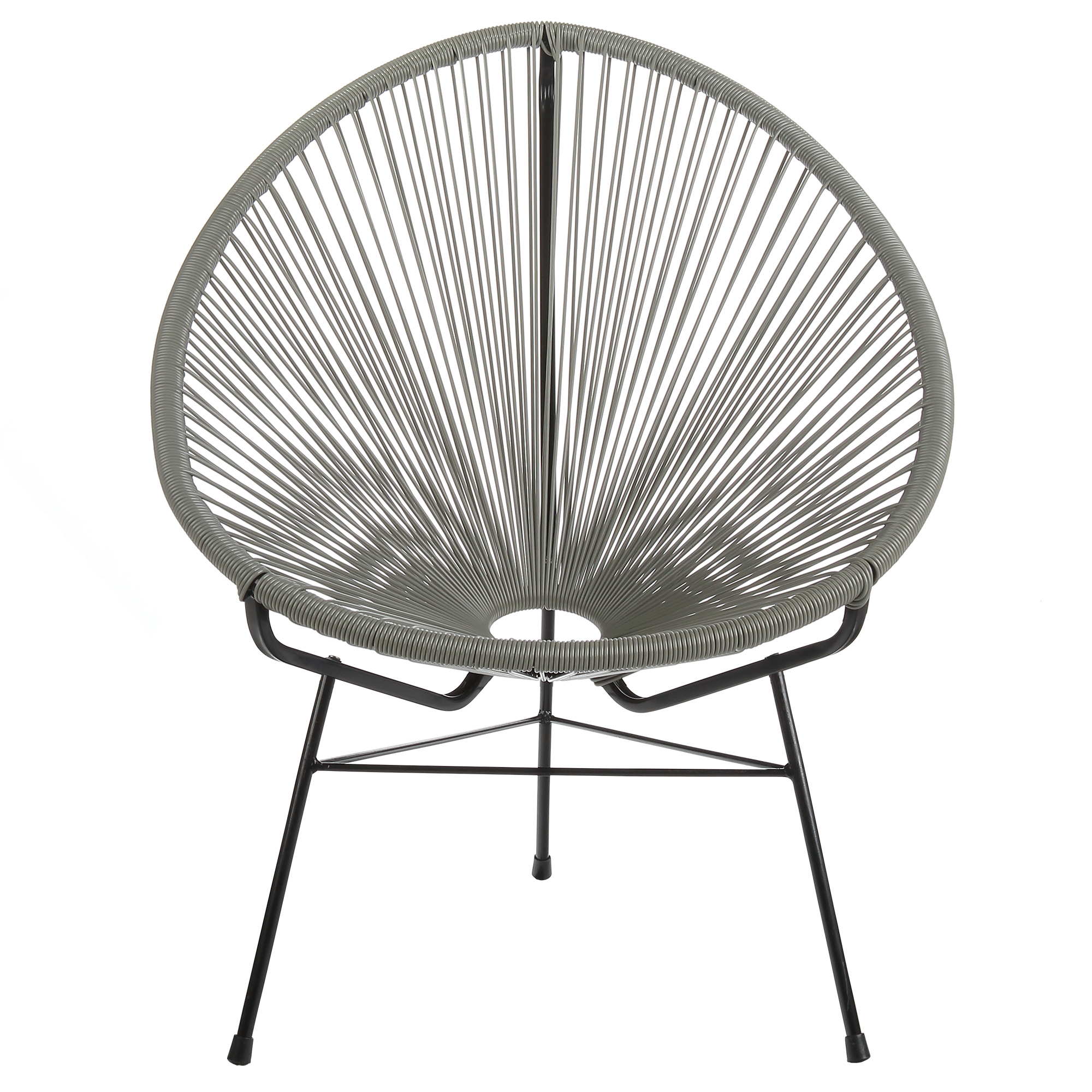 Acapulco Outdoor Lounge Chair - Grey Cord
