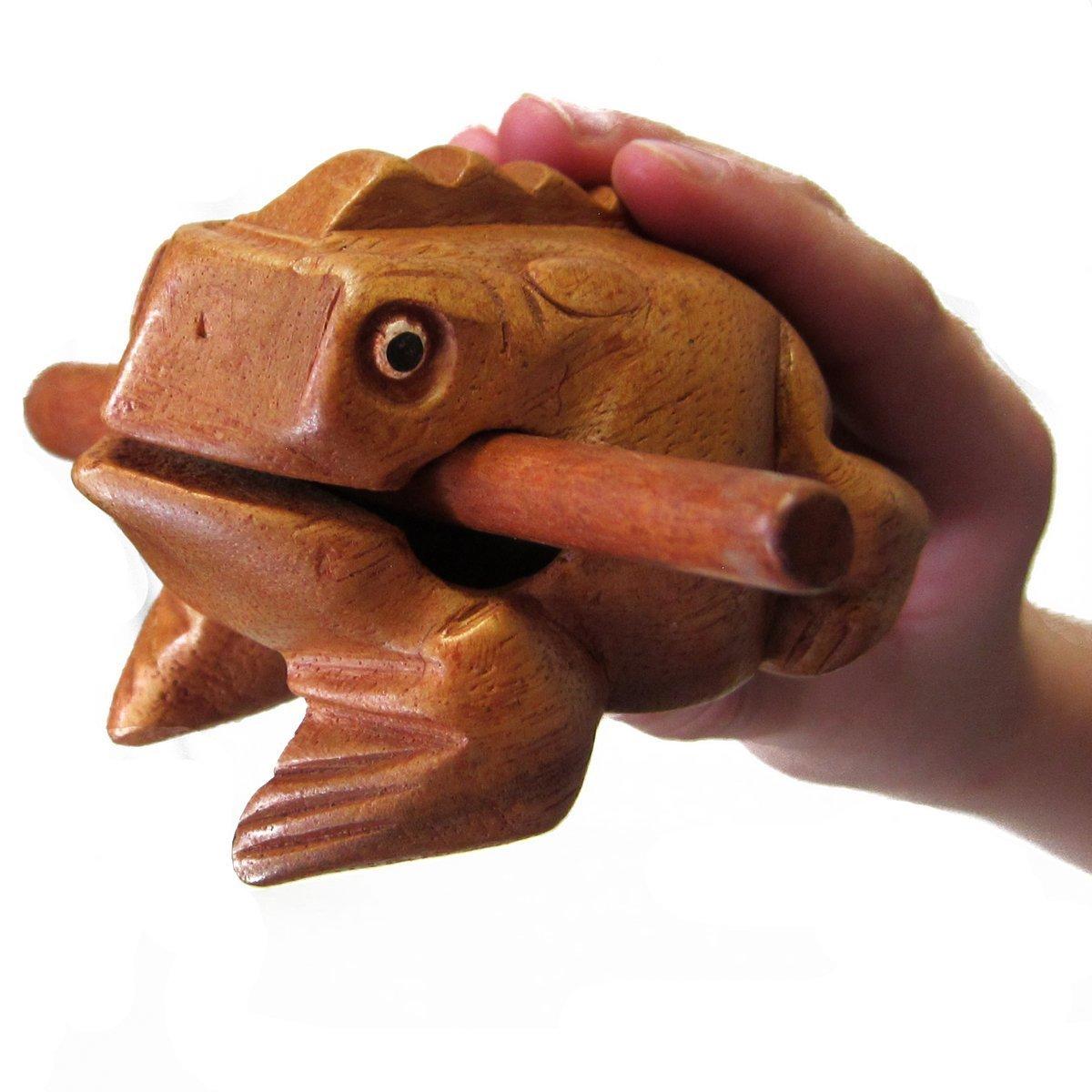 Wooden Frog Guiro - Fun Wooden Frog Percussion Instrument - Walmart.com