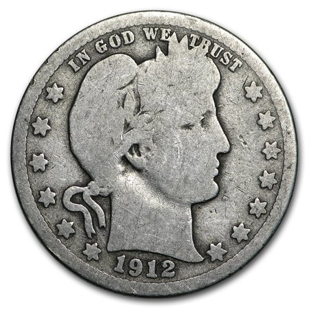 1912-S Barber Quarter Good