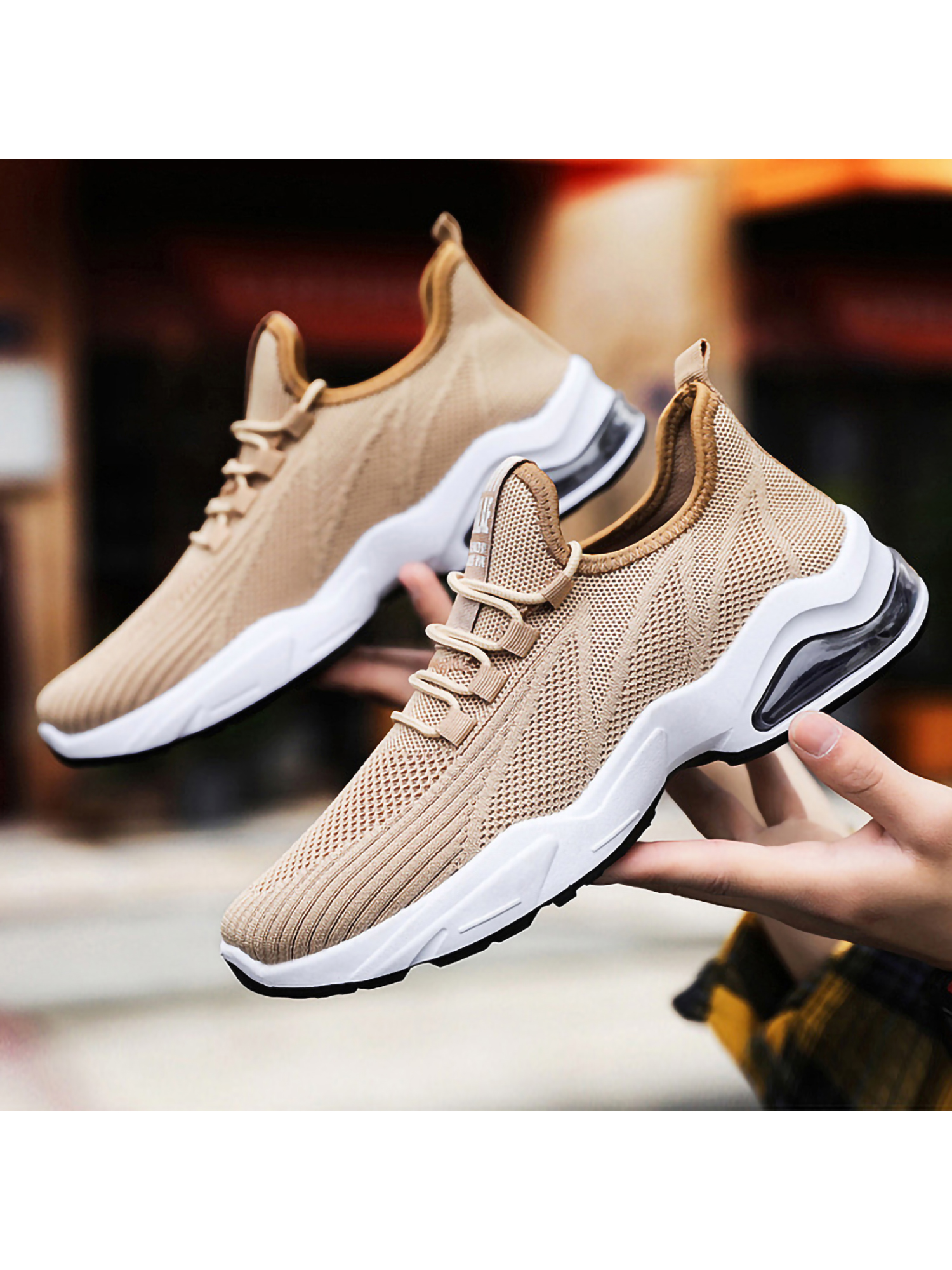 Mens Air Cushion Running Sneakers Casual Athletic Tennis Shoes Breathable Walk