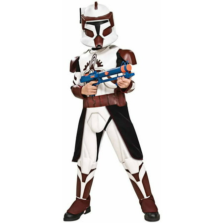 Star Wars Clone Wars Deluxe Commander Fox Child Halloween - Commander Fox Costume