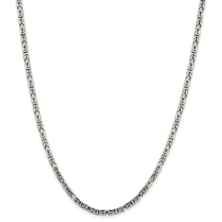 Roy Rose Jewelry Sterling Silver 3.25mm Byzantine Chain 24'' length