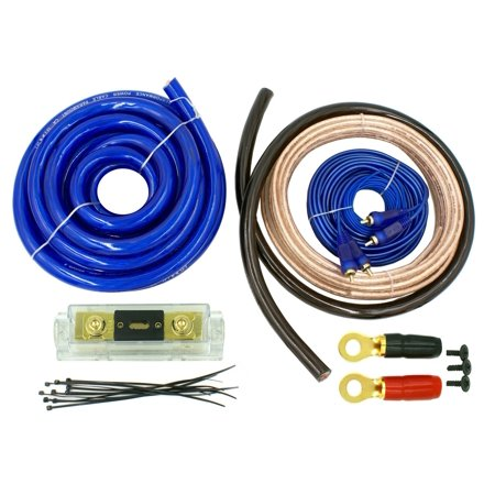 DNF 0 Gauge Blue Audio Kit Complete Amplifier Amp Installation Kit 6000W