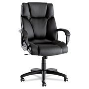 Fraze Series High-Back Swivel/Tilt Office Chair, Black Leather