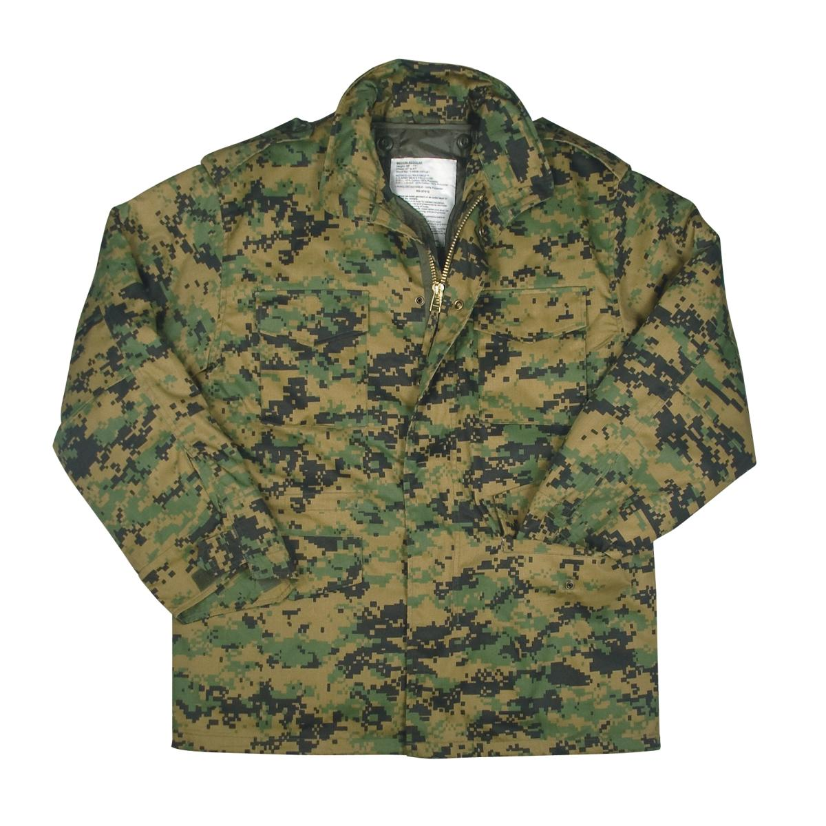 Ultra Force M-65 Field Jacket Woodland Digital Camo