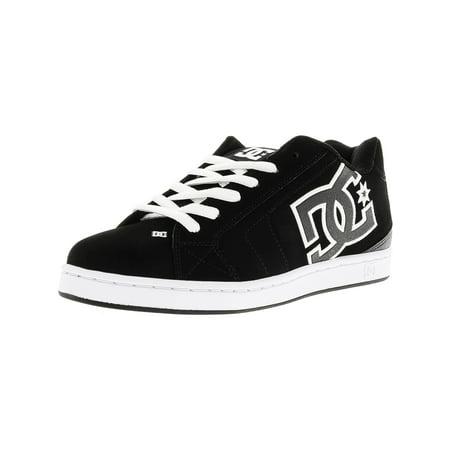 Dc Men's Net Black / White Ankle-High Leather Skateboarding Shoe - 11M Dc Net Skate Shoe