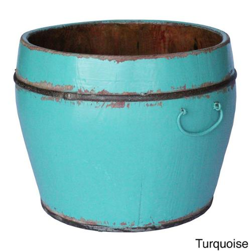 Round Household Decorative Bucket Turquoise