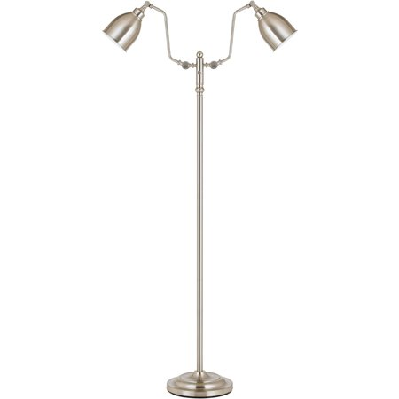 Steel 12 Light - Floor Lamps 2 Light Fixture With Brushed Steel Finish Metal Material E26 12