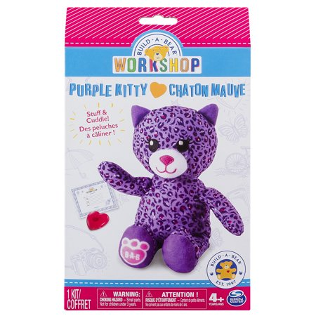 Build A Bear Workshop   Furry Friends   Purple Kitty