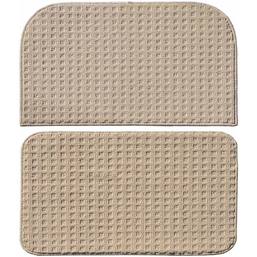 """Garland Rug Herald Square 2pc Kitchen Rug Slice and Mat, 18"""" x 28"""""""