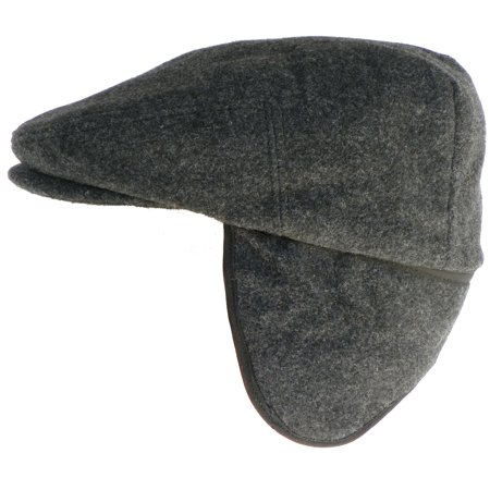 e63a8f6f3abfd9 Headchange - Headchange Made in USA Herringbone or Solid Ear Flap Ivy Cap  Winter Hat 100% Wool (X-Large, Charcoal) - Walmart.com