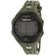 Timex Men's Ironman Sleek TW5M23900 Green Resin Quartz Sport Watch