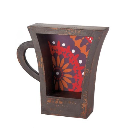 Wall Shelf Decorations Coffee Cup Kitchen Display Small Decorative Wood