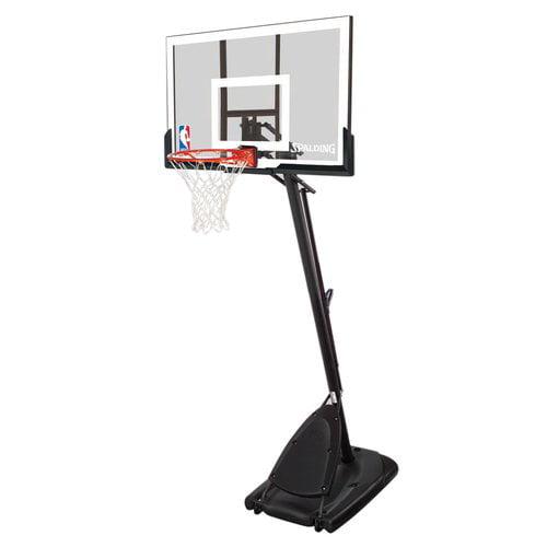 "Spalding 52"" Angled Pole Portable Basketball System"