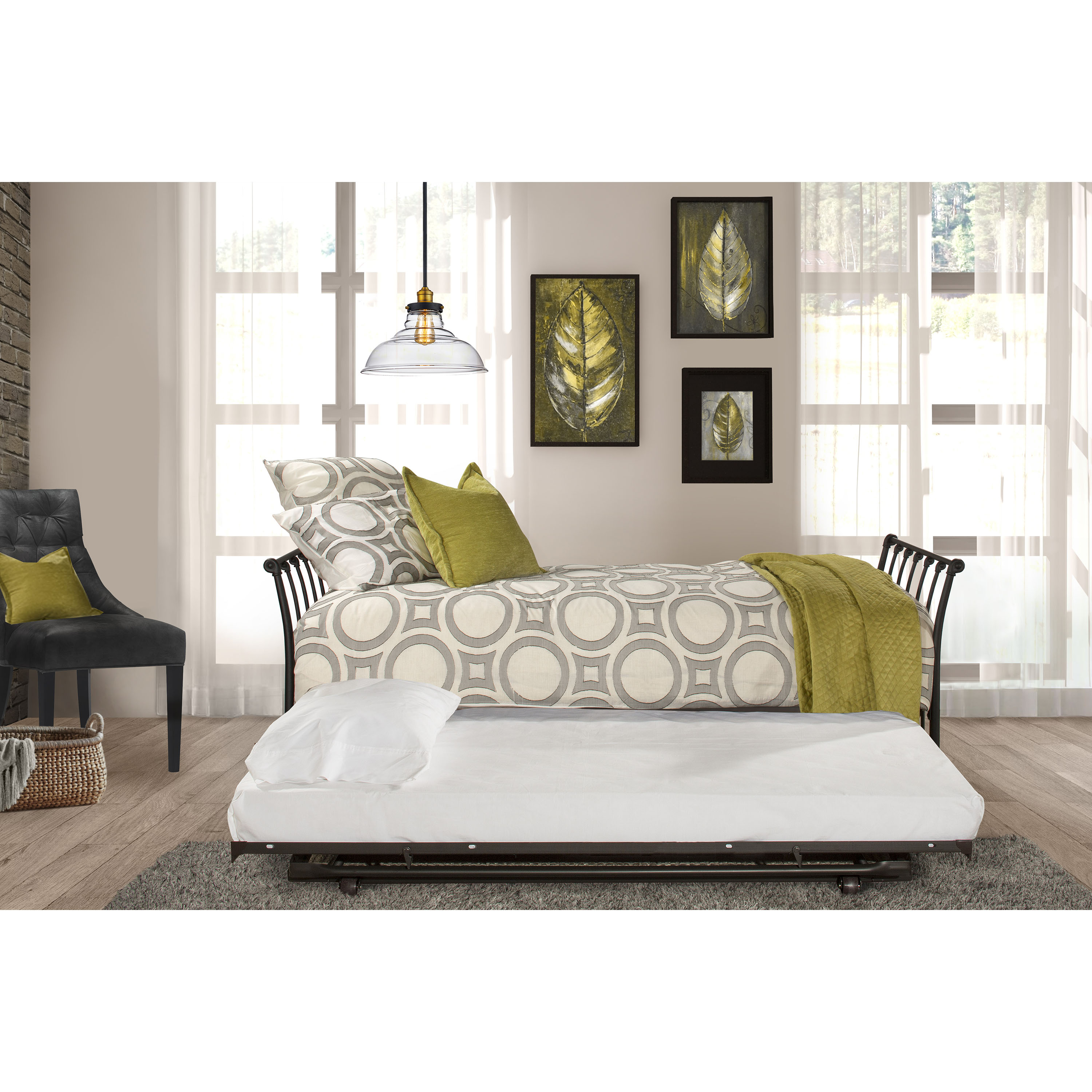 Hillsdale Furniture Midland Backless Daybed with Trundle ...